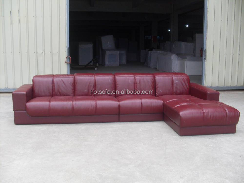 Low price genuine leather sofa set genuine sectional for Low sofa set