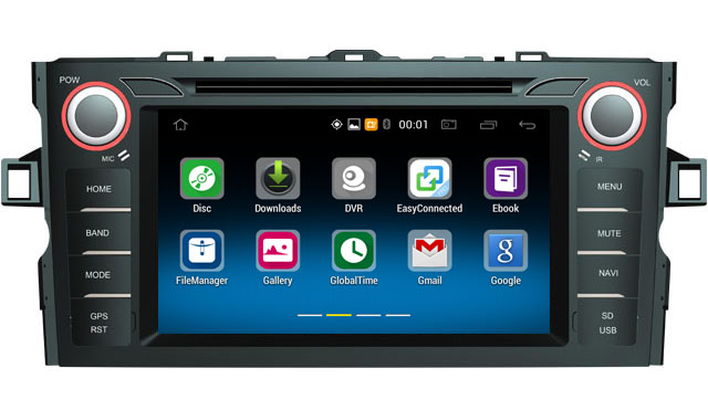 Android 5.1.1 Touch screen android car multimedia system auto car radio dvd audio player with Gps for Toyota 2012 Corolla