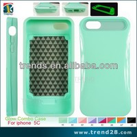 Glow combo defender case plastic snap case for iphone 5c