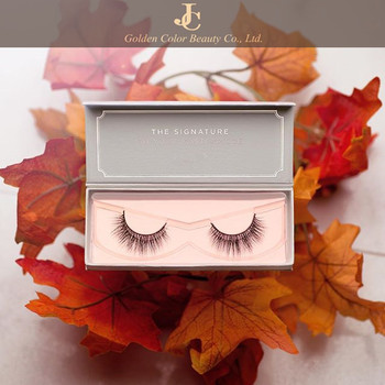 new arrival luxurious 3D mink fur false eyelash magnetic custom box with own brand