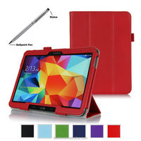 Tri-Fold Leather Hand Strap Smart Cover Case for Samsung Galaxy Tab 4 10 inch
