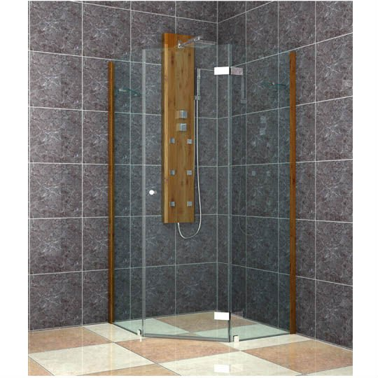 L013 Transparent glass shower enclosure