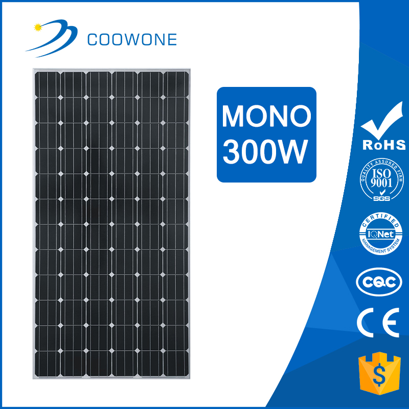 Monocrystalline Solar Cell 156x156 300w Sun power Solar Panel