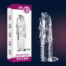 Transparent Full Cover Penis enlargement Sleeve, artificial penis for sex Male Enhancer sex toy for men