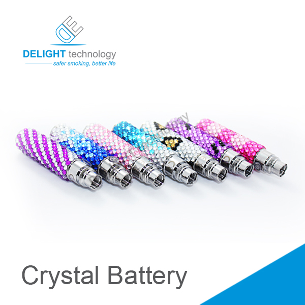 Best selling e cig ego electronic cigarette crystal battery/diamond car battery Fashionable style with factory price