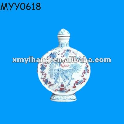 round ceramic snuff boxes with kylin