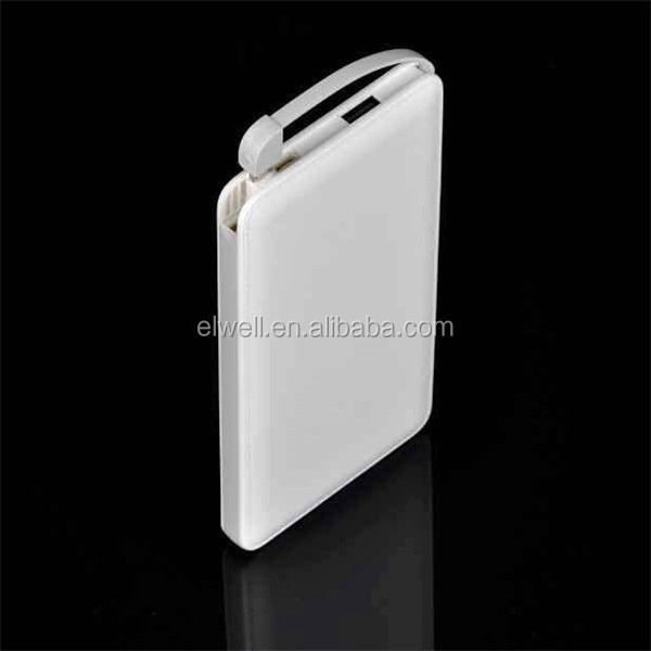 2017 New Model ABS Case Mobile Phone Portable Battery Charger, Credit Card Power Bank 8000mAh