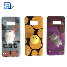 3D Squishy Kneading Soft Silicone Finger Pinch cute Case IMD Protective Cover for samsung galaxy s8