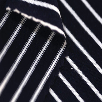 Black White Stripe Jersey Fabric 100% Cotton Knitted Fabric