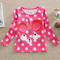 G649 2016 Girls Fashion T-shirt Long Sleeve T-shirt Baby T-shirt