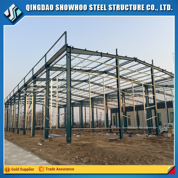 Design Prefabricated Galvanized building Steel Frame Sheds Structure