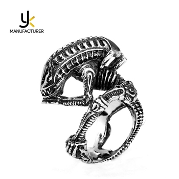 Famous Film And Television Jewelry Casting Monster Shaped Stainless Steel Antique Rings