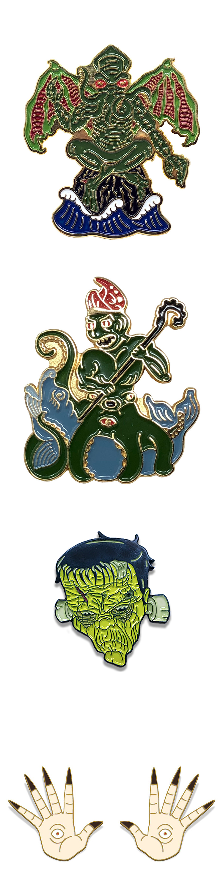 No minimum order factory price custom Octopus demon metal lapel pins