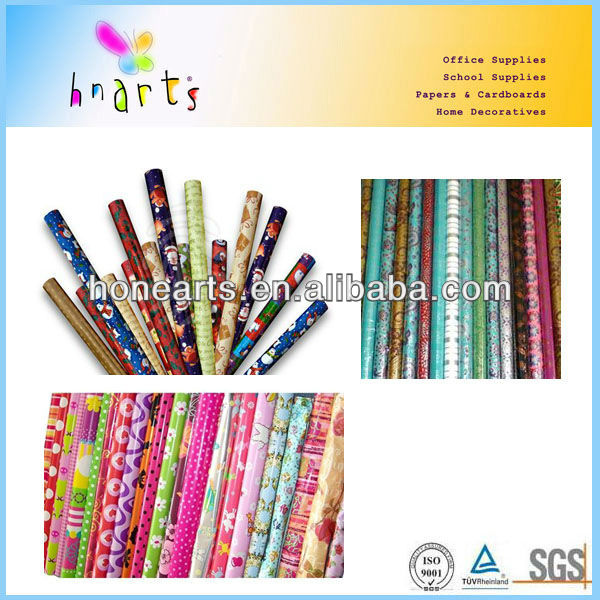 best sell customised roll wrapping paper/ seasonal wrapping paper roll