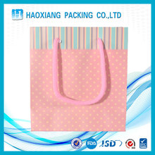 Accept Customized Logo Prnting Kraft Paper Gift / Shopping Packing Bag