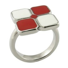 2015 HUIFU good quality party favor colorful enamel square rings