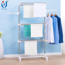 High quality portable three layer clothes rack parts