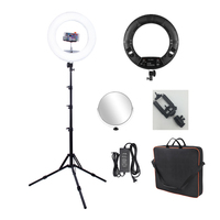 FS-480II 480pcs SMD Bead 48W Dimmable Bi-color 3200K-5500K Video Photo LED Ring Light