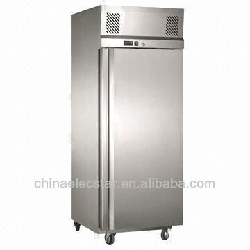 Gastron double door cabinet,Kitchen Refrigerator with Carel Thermostat, Made of Stainless Steel