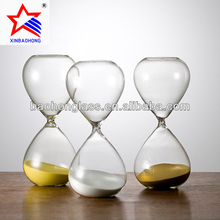 Home Decorative Sand Timer 60 Minutes clear glass craft ornaments