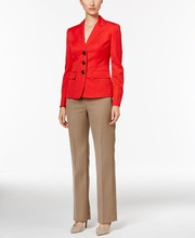 Red new fashion women office business suit fancy ladies cotton suits for office lady