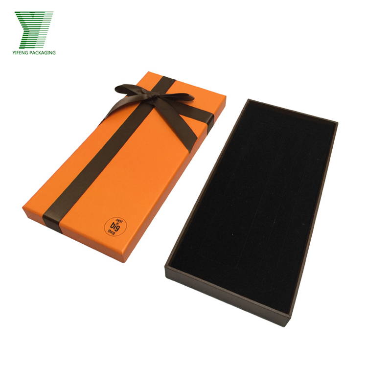 Custom high quality cardboard necktie packaging gift box cardboard tie box