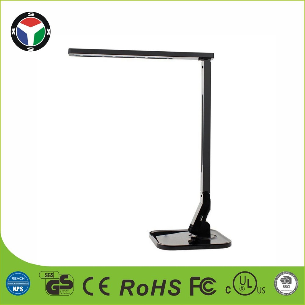 YS 4 Lighting / Color Modes, 5-Level Dimmer, Touch-Sensitive Control Panel, Highly Adjustable Arm Table Lamp