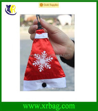 Christmas Hat Polyester Shopping Bag Reusable Eco-Friendly Shopping Tote Christmas Candy Bag