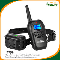 Dog training collar iT798 550m Recharegeable & Waterproof Remote Dog Training Shock Collar with 2 model