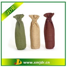Custom Eco-friendly Jute Wine Bottle Bag Pattern