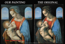 monther and child oil paintings reproduction of Leonardo Da Vinci