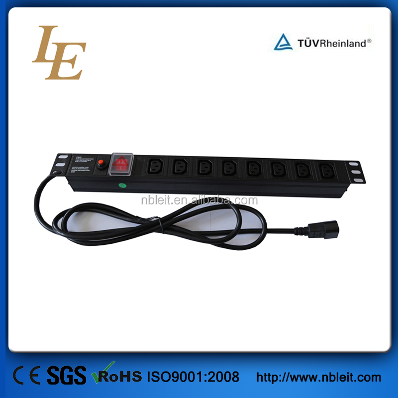 "1U 19"" rack power distribution unit"