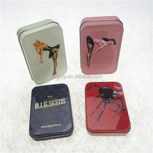 hinged mint can rectangle packaging candies tins boxes