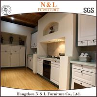 Flat packing full set precut solid wood kitchen cabinets