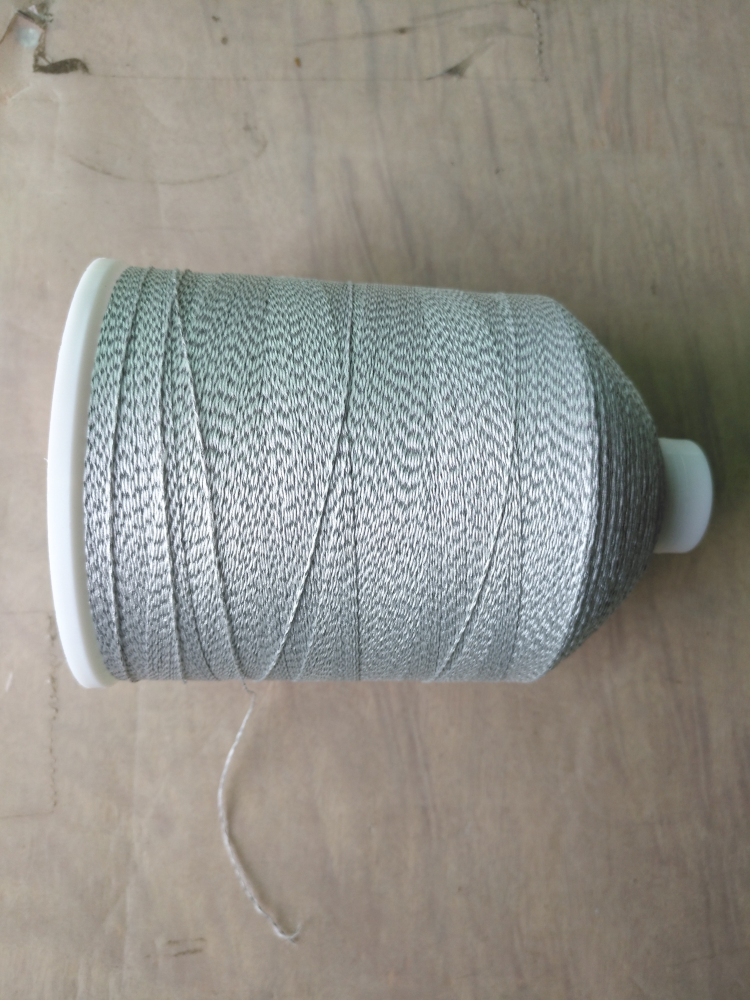 2017 double side high visible reflective wool knitting yarn