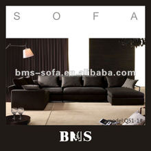 Modern brown u shaped sectional sofa set