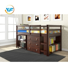 Child White all-in-one Wooden Designs Double Layer Bed