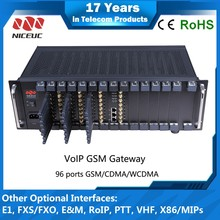 NICEUC solution for company internal communication calling and SMS 96 port 96 sim voip gateway
