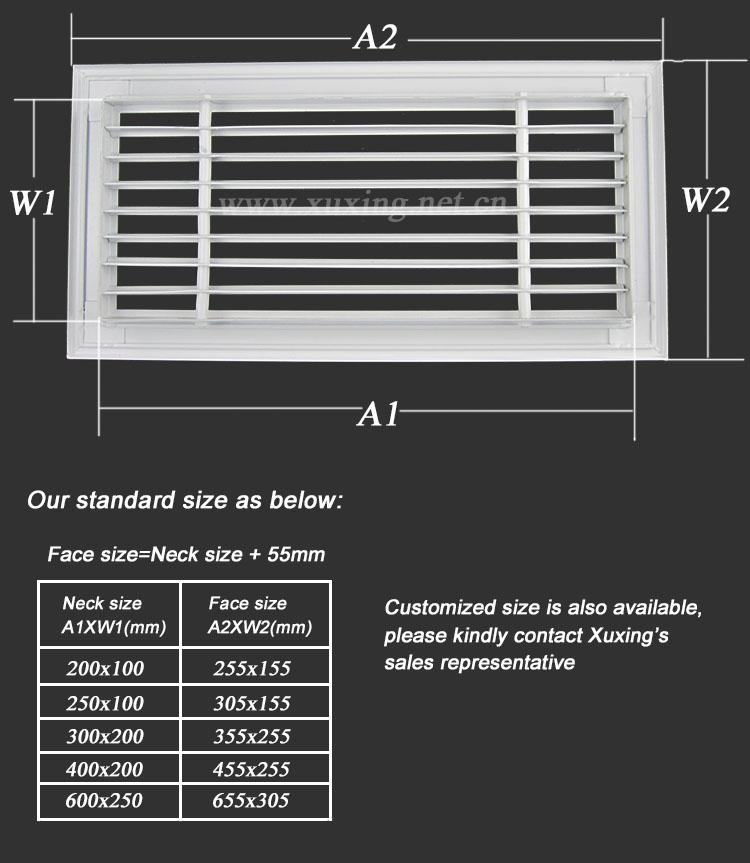 Ceiling Wall Mounted Linear Bar Aluminum Ventilation