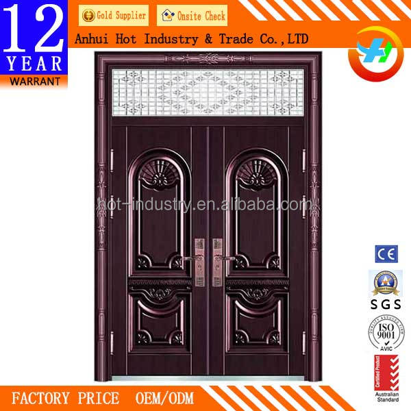 High Quality Stainless Steel Copper Door Design Exquisite Craft Caving Bronze Door Anti-theft Fireproof Villas Door