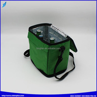 polyester ice bag for 6 cans recycled polyester bag cheap promotional ice bag