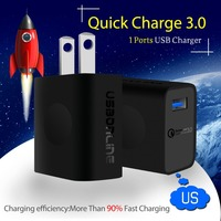 USBONLINE Qualcomm Quick Charge 3.0 Technology USB Charger One ports USB Travel Adapter Intelligent Charging US Plug