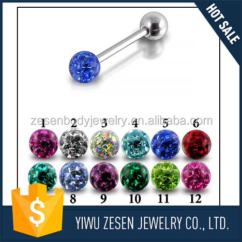 New coming attractive style piercing jewelry tongue rings manufacturer sale