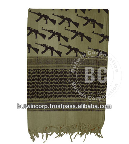 Tactical Shemagh-OD AK47 / Military Fashion Scarf 100% Cotton/Military Deserts