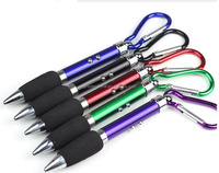 Wholesale hot sale carabiner laser ball point pen/carabiner ballpoint pen keychain