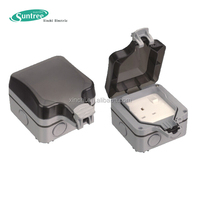 double pole switches socket with weatherproof case 2 gang 1 gang IP66 13A