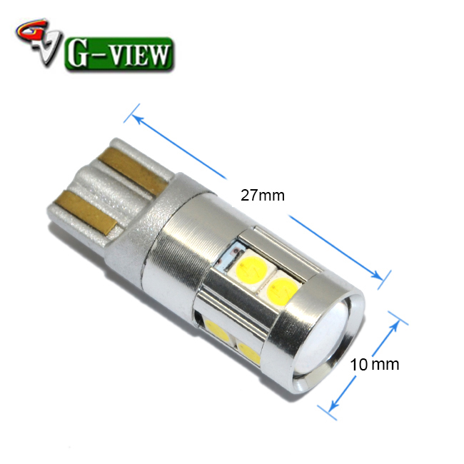 China car accessories light, led for car t10 w5w 9smd 3030 auto led ,width t10 car light bulb