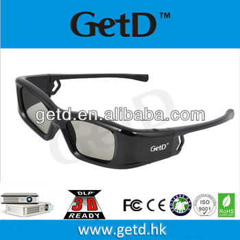 GL410 3D active shutter glasses rechargeable for projectors