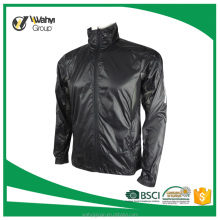 new design black zip up 100% polyester man softshell jacket windbreaker