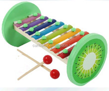 child wholesale toy cheap education 8 key wooden fruit color hand knock xylophone with metal keys musical instruments prices toy